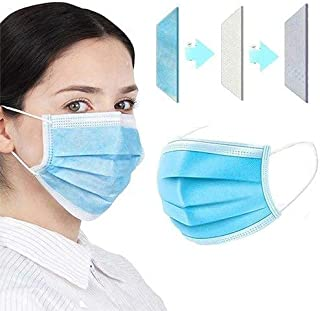 BOLDNYOUNG surgical mask with nose clip 3 layer 100 pieces surgical masks sergical. mask 25 GSM Fabric 3 ply surgical mask...