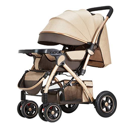 LMJ Kinderwagen buggys Kinderwagen Baby Doll zusammenlegbare Kinderwagen mit schwenkbaren Rädern mit Lenkrollen...