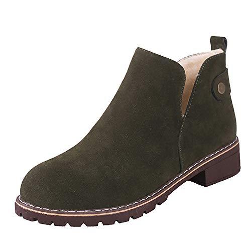 Beladla Botas Mujer Navidad Boot De Gamuza Zapatos De OtoñO E Invierno Botines Botas De Zapatos