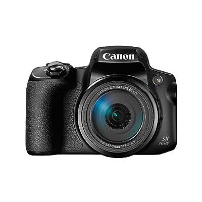Canon Powershot SX70 20.3MP Digital Camera 65x Optical Zoom Lens 4K Video 3-inch LCD Tilt Screen (Black) by Canon