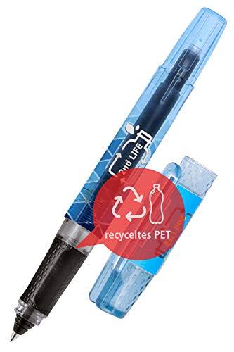 ONLINE 54201/3D - Penna roller 2nd Life, in PET riciclato, per un ambiente pulito, per cartucce di inchiostro standard, inclusa 1 cartuccia combinata