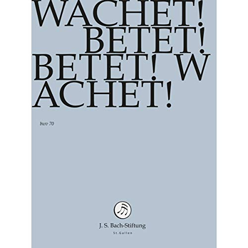 J. S. BACH: Wachet! Betet! Betet! Wachet! [DVD] [Alemania]