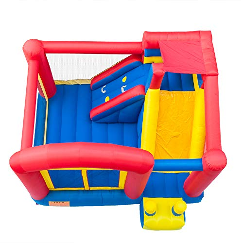 Zinnor 157.2 x 141.6 x 110.4 Jump and Slide Inflatable Bounce House Castle Jumper Bouncer for Kids Party - 2-5 Days Shipping from US
