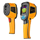 """Flexzion Infrared Thermal Imager, Handheld 3600 Pixel IR Thermometer Imaging Camera Sensor Temperature Range -4~572°F, with 2.8"""" Color Display Screen, Image Storage Micro SD Card, Storage Pouch"""