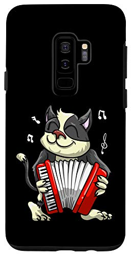 Galaxy S9+ Funny Cat Playing Accordion | Cool Musician Harmonium Gift Case