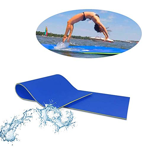 Schwimmender Teppich Schwimmende Wassermatte, 2-lagiger Reißfester XPE-Schaum, Langlebiges Schwimmendes Wasserkissen Für Wassererholung Und -entspannung, Schwimmende Matte Für Pools, Seen Oder Strände