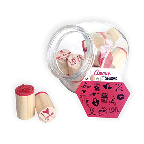 Aladine 85005 Stampo Vorratsglas Amour