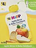 HiPP Apfel-Birne und Baby-Zwieback, 1er Pack (1 x 360g) -