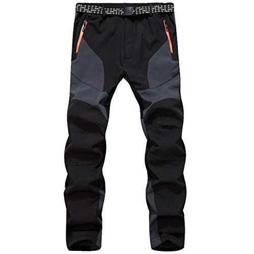 Herren Winter Outwear Hosen, wasserdichte Hosen Softshell Wanderhose Sommer Winter warme Hosen, mit Reißverschlusstaschen M