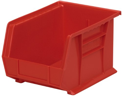 Akro-Mils 30239 Plastic Storage Stacking Hanging Akro Bin, 11-Inch by 8-Inch by 7-Inch, Red, Case of 6