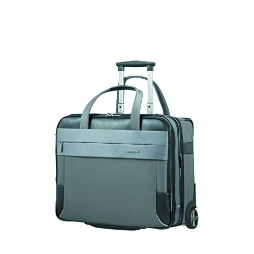 SAMSONITE ROLLING TOTE 17.3' EXP (GREY/BLACK) -SPECTROLITE 2.0 Travel Tote, 0 cm, Grey