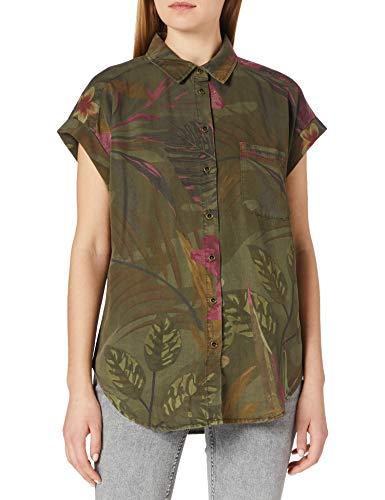 Desigual CAM_ROUS Camiseta, Verde, XS para Mujer