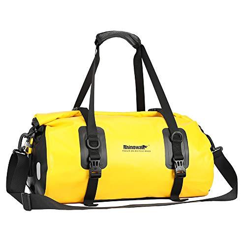 Wildken - Borsa per portapacchi da bicicletta, impermeabile, per mountain bike, bici da corsa, giallo., 46 x 23 x 28 cm