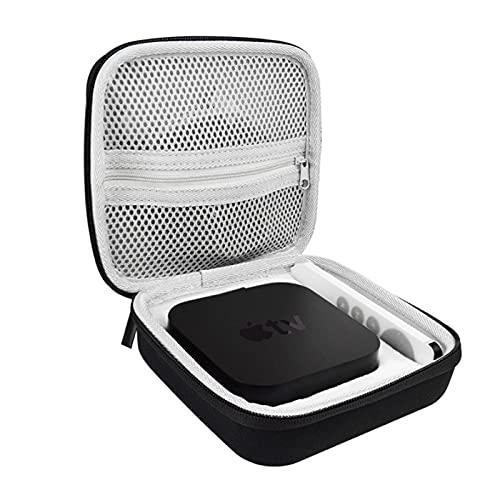 Coque rigide pour Apple TV 4K 2021, sac de voyage pour Apple TV 4K 2021 (32 Go/64 Go) et télécommande Siri 2021 (noir)