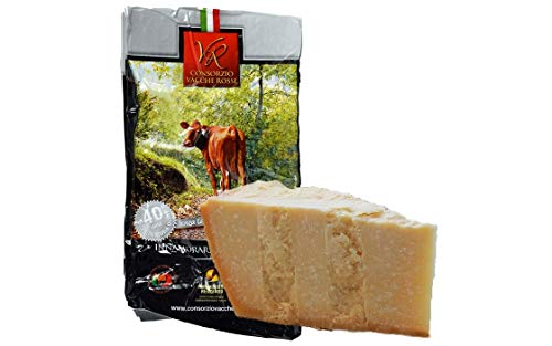 Parmigiano Reggiano PDO 'Vacche Rosse/Red cows' seasoned 40/48 months, 2,2 lbs (kg.1) Produced by Consorzio Vacche Rosse (Red label)