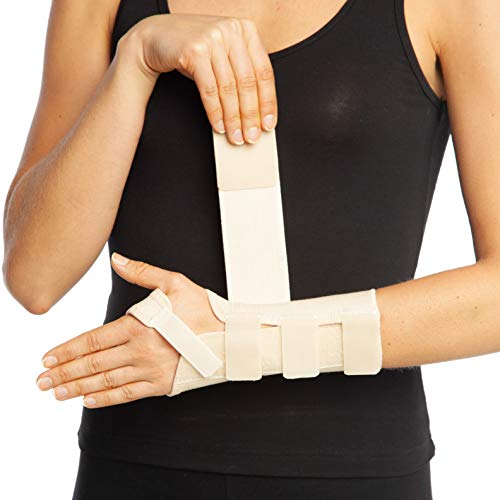 armoline Hand Splint Handgelenkschiene links, Stütze Karpaltunnelsyndrom Verstauchung Arthritis Schmerzen Daumen atmungsaktiv NHS Zugentlastung Advanced