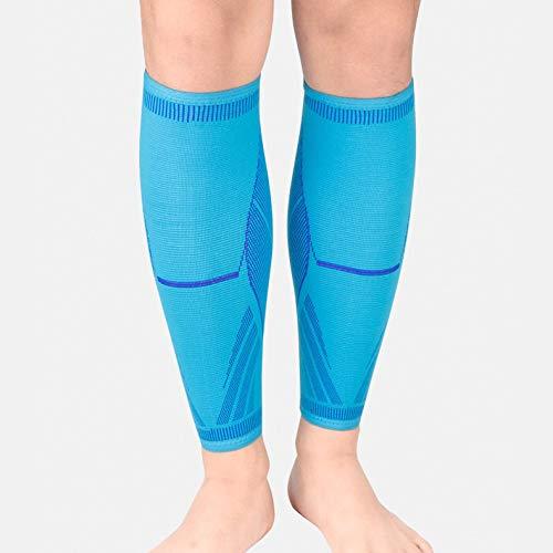 ysong Compression Sleeve Laufstrümpfe für Herren und Damen Laufen, Joggen, RadfahrenL-Sky Blue