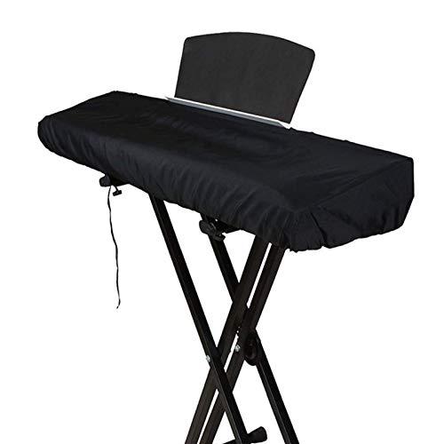 Funda Teclado 61 Teclas Funda Piano Yamaha Funda Protectora Elástica para Piano Digital Casio Yamaha Roland (Negro) (61 Teclas)