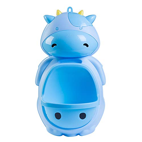 Cute Cow Boy Urinal Standing Potty Toilet Training (Blue)