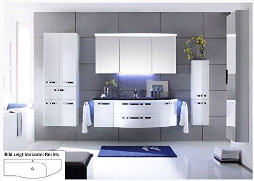 PELIPAL Solitaire 7005 3 TLG. Badmöbel Set/Waschtisch/Unterschrank/Spiegelschrank/Comfort N