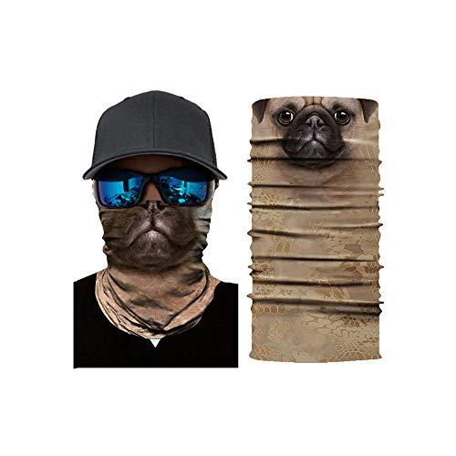 Multifunktionstuch Herren & Damen - Halstuch Schlauchschal - Atmungsaktiv & Schnelltrocknend - Motorrad Gesicht Mundschutz Lustig Skull Maske Chopper Mund-Tuch Halsschlauch Halstuch mit Motiv