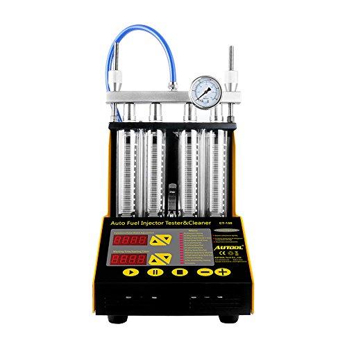 Autool CT-150gasolina vehículo motocicleta ultrasónico limpiador de inyector de combustible probador
