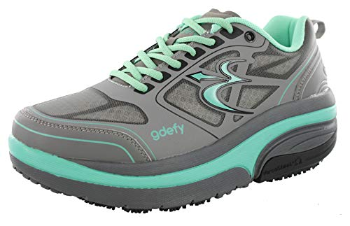 Gravity Defyer Women's G-Defy Ion Teal Gray Comfortable Walking Comfortable Walking Shoes