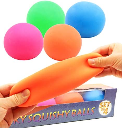 Smart Novelty Pull and Stretch Stress Balls for Kids and Adults Assorted Color Sensory Toy and product image