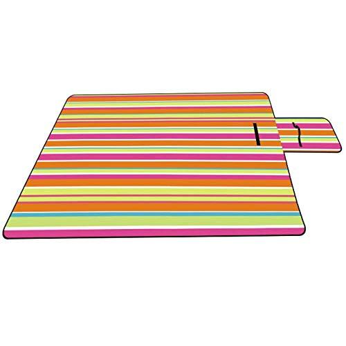 FEE-ZC - Manta de picnic plegable impermeable y portátil, ideal para camping, playa, barbacoa, senderismo, viajes (150 x 200 cm), color morado