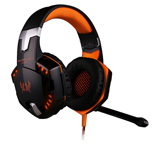 Andoer Each G2000 Über Ohr Gaming Kopfhörer Headset Ohrhörer Stirnband mit Mikrofon Stereo Bass LED Lampe für PC Spiel