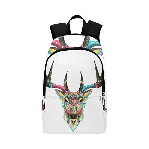 DKGFNK Large Bookbags Romantic Elegant Peaceful Deer Durable Water Resistant Classic Best School Bags Mens Casual Messenger Bag Biking Daypack Boy Travel Bag