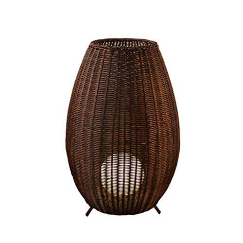 XXLYY Lámpara de pie para Exteriores Brillante, lámpara de ratán Lámpara de pie de ratán Resistente a la Intemperie para terraza de Patio y jardín FL-15