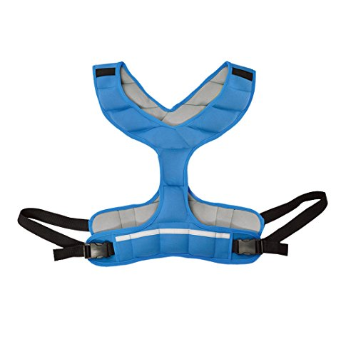 ZEYU SPORTS Walking Fitness Weighted Vest 8LBS/3.6KG Blue Women Running