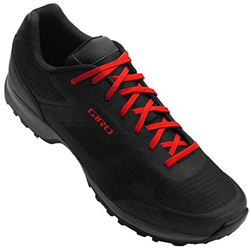 Giro Gauge Mens Mountain Cycling Shoe − 46, Black/Bright Red (2020)