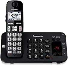 $34 » Panasonic KX-TGE440B Cordless Phone with Answering Machine (Base Unit for KX-TGE445B) - 1 Handset (Renewed)