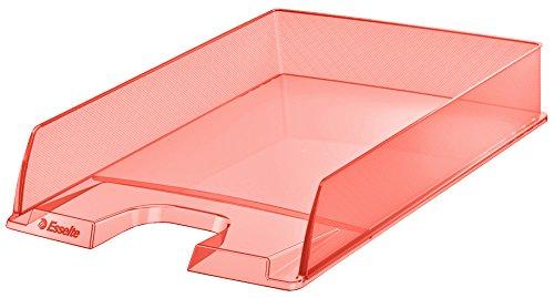 Esselte Colour'Ice - Vaschetta portacorrispondenza, Formato A4, Impilabile verticalmente o a 'sbalzo', Polistirene (PS), Albicocca, 626273