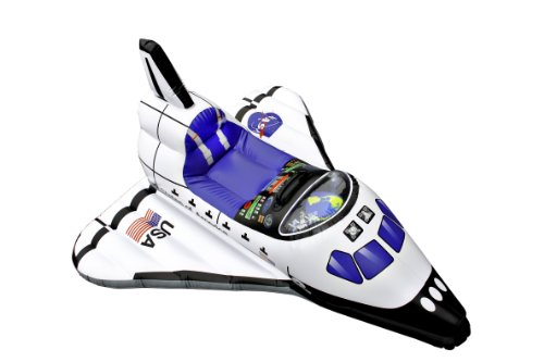 Aeromax Junior Space Explorer Inflatable Space Shuttle White, 3 And Up