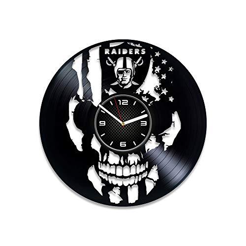 Kovides Raiders Vinyl Record Clock 12 Inch Sport Wall Clock