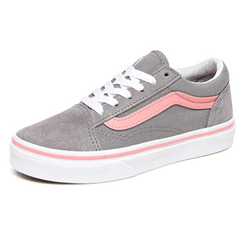 Vans Old Skool Sneaker Madchen Grau/Rose - 36 1/2 - Sneaker Low Shoes