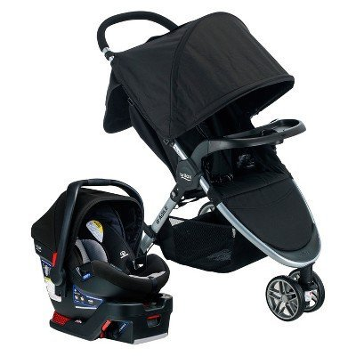 Best Buy! Britax Dual Comfort Travel System - Gray/Black Black