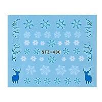 1ピースネイルアートステッカー新年スライダータトゥークリスマス水デカールサンタクロース雪だるまフルラップデザインデカールSASTZ405-439 STZ430