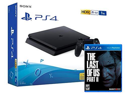 PS4 Slim 1Tb Negra Playstation 4 Consola + The Last Of Us 2