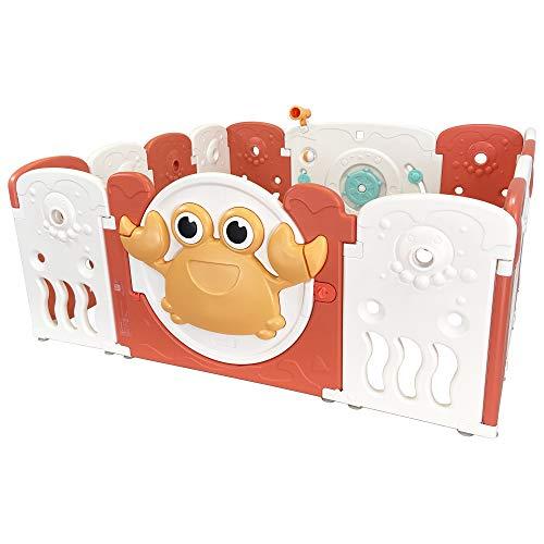 Tiny Tales by The Sea Baby Box Adatto per Uso Interno Esterno, 14 Pannelli Incluso Pannello di Gioco di Attività