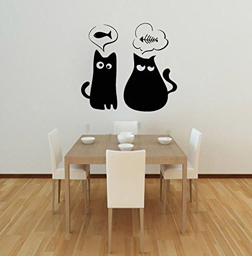 Kat muur Art Decals Kitten Dieren Decal Vinyl Sticker Voor Badkamer Keuken Baby Kinderen Kinderkamer Slaapkamer Decor 32