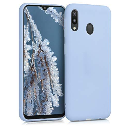 kwmobile Funda Compatible con Samsung Galaxy M20 (2019) - Carcasa de TPU Silicona - Protector Trasero en Azul Claro Mate