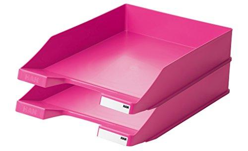 HAN 1027-X-00, Briefablage KLASSIK, Modern, Schick und Hochglänzend, 10er Packung (pink)