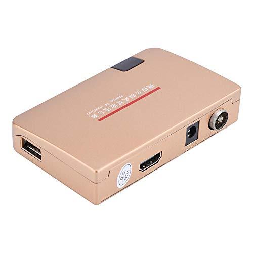 Lazmin RF zu HDMI Konverter, 100-240V Analog TV Receiver Adapter mit Fernbedienung(EU-Stecker)