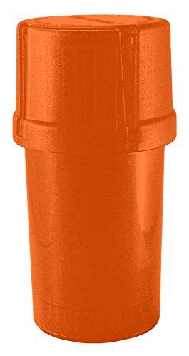 Medtainer Storage Container w/Built-in Grinder, Orange