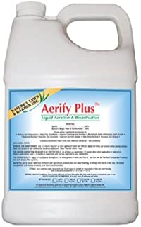 Aerify PLUS Gallon - Liquid Aerating Soil Loosener- Aerator Soil Conditioner- No Mechanical or Core Aeration- Simple Lawn Solutions- Any Grass Type, All Season- Great for Compact Soils, Standing Water, Poor Drainage.