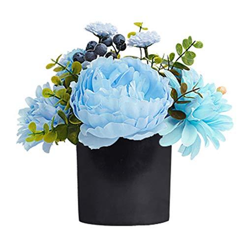 Sarazong Nordic Faux Fleur, Fleur Artificielle Décoration Rose Fleur, Réaliste Real Touch Fleur Floral pour La Décoration Intérieure Faux Fleurs,Black